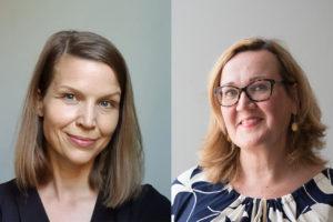 Potrettikuvassa Mirella Nordblad ja Marja-Liisa Saarilammi.